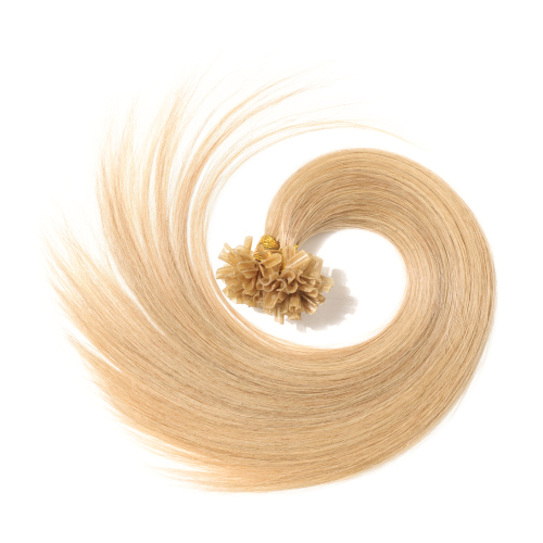 Blonde Pre Bonded Human Hair Extension Straight Nail Tip